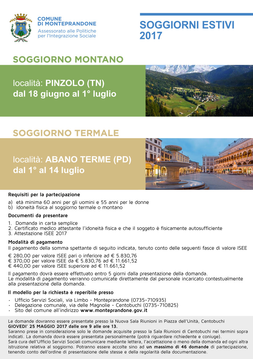 Ex Enam Soggiorni Climatico Termali Snals Udine - Soggiorni ...