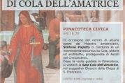 Il ritorno di Cola dell' Amatrice ai Musei Civici di Ascoli Piceno