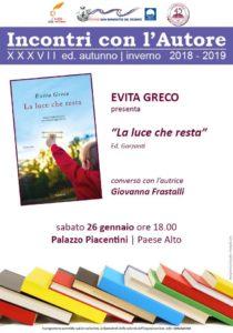 San Benedetto: La luce che resta di Evita Greco a Palazzo Piacentini