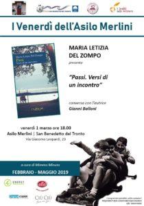 San Benedetto, per i Venerdì dell' Asilo Merlini c'è Maria Letizia Del Zompo