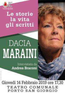 Le storie, la vita, gli scritti: Dacia Maraini ospite nel Teatro Comunale di Porto San Giorgio