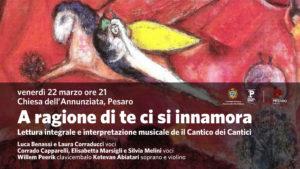 A ragione di te ci si innamora: il Cantico dei Cantici con letture e musica alla Chiesa dell'Annunziata di Pesaro