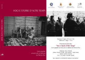 Voci e storie d'Altri Tempi, canti popolari e di ispirazione popolare elaborati da Patrizio Paci