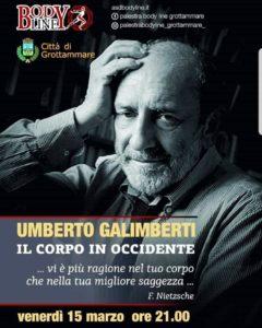 Umberto Galimberti alla Sala Kursaal di Grottammare
