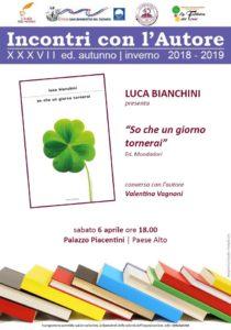 So che un giorno tornerai di Luca Bianchini a Palazzo Piacentini di San Benedetto