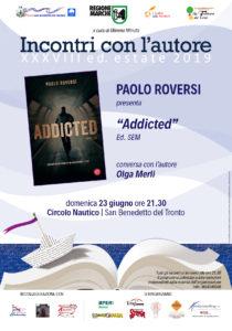 Paolo Roversi con il suo libro Addicted al Circolo Nautico Sambenedettese