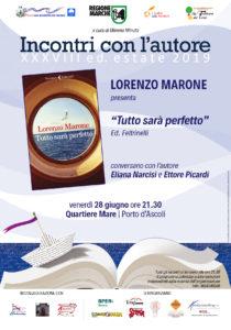 Tutto sarà perfetto di Lorenzo Marone alla sede del Quartiere Mare