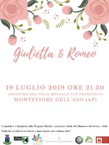Giulietta e Romeo – riveduti e scorretti al chiostro del Polo Museale San Francesco di Montefiore dell' Aso