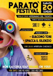 Parato' Festival 2019 – 20 Luglio 2019 – Appignano del Tronto