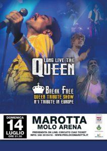 A Marotta il concerto spettacolo dei Break Free, il più grande tributo europeo ai Queen