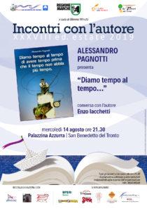 San Benedetto: Diamo tempo al tempo di Alessandro Pagnotti alla Palazzina Azzurra, c'è anche Enzo Iachetti