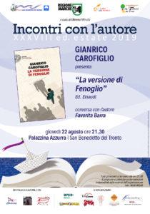 La versione di Fenoglio di Gianrico Carofiglio alla Palazzina Azzurra di San Benedetto