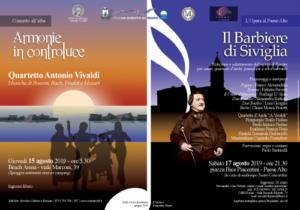 San Benedetto capitale della musica classica e lirica con Armonie in Controluce ed il Barbiere di Siviglia