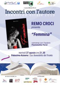 Femmina del giornalista Mediaset Remo Croci alla Palazzina Azzurra di San Benedetto