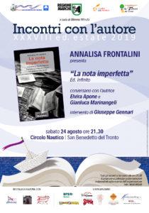 La nota imperfetta di Annalisa Frontalini al Circolo Nautico Sambenedettese