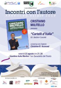 I Cartelli d' Italia di Cristiano Militello al Giardino dell' Asilo Merlini di San Benedetto