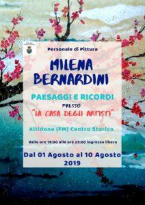 Paesaggi e Ricordi, personale di Milena Bernardini alla Casa degli Artisti di Altidona