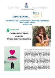 Chiara Moscardelli con Volevo essere una vedova al Parco Bartolucci di Sant' Elpidio a Mare