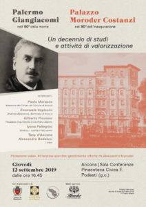 Ancona, studi e valorizzazione di Palermo Giangiacomi e del Palazzo Moroder CostanziOSTANZI