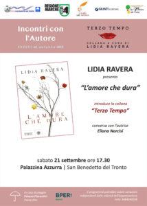 Alla Palazzina Azzurra di San Benedetto c'è Lidia Ravera con L' amore che dura