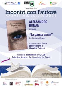 La parte giusta del giornalista Sky Alessandro Bonan alla Palazzina Azzurra di San Benedetto