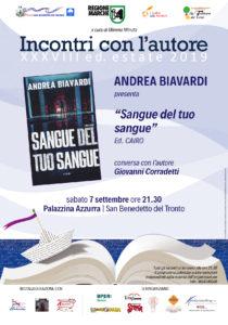 Sangue del tuo sangue di Andrea Biavardi chiude l'edizione 2019 di Incontri con l'Autore