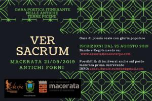 A Macerata la nuova tappa del Ver Sacrum, la gara poetica con giuria popolare