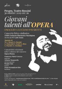 Giovani talenti all' opera. Omaggio a Luciano Pavarotti al Teatro Rossini di Pesaro