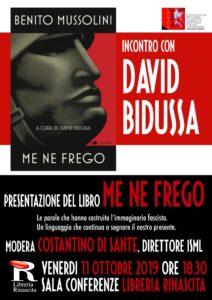 Le parole che hanno costruito l'immaginario fascista nel libro di David Bidussa, incontro alla Libreria Rinascita di Ascoli Piceno