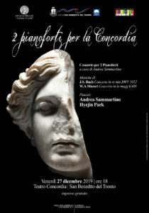 San Benedetto: Due pianoforti per la Concordia, concerto il 27 dicembre