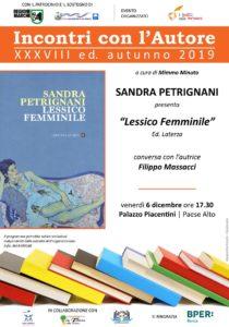 Lessico Femminile di Sandra Petrignani alla sala della Poesia di Palazzo Piacentini di San Benedetto