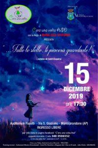 …Tutte le stelle, ti piacerà guardarle!, lo spettacolo di Natale dell' associazione C'era una volta al Centro Pacetti di Monteprandone