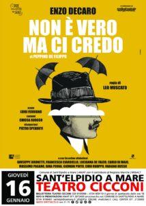 Non è vero ma ci credo con Enzo Decaro al Teatro Cicconi di Sant'Elpidio a Mare