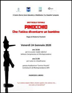Pinocchio. Che fatica diventare un bambino al Centro Pacetti di Monteprandone