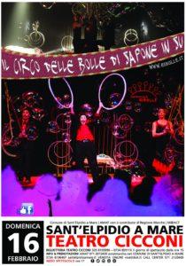 Il Circo delle Bolle al Teatro Cicconi di Sant' Elpidio a Mare