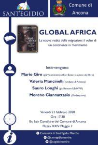 Ancona: Global Africa, il nuovo libro di Mario Giro nell' ex sala consiliare del Comune