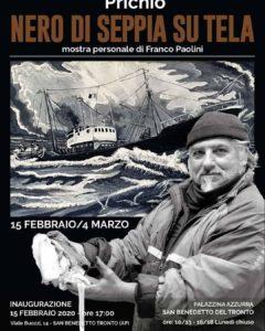 San Benedetto, alla Palazzina Azzurra le opere di Franco Paolini dipinte col nero di seppia