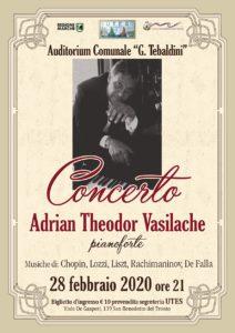 San Benedetto, il pianista romeno Adrian Theodor Vasila all' auditorium Tebaldini