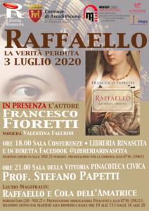 Ascoli Piceno, Raffaello Sanzio e Cola dell'Amatrice: due protagonisti, un solo evento