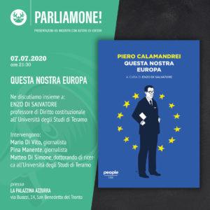 Questa nostra Europa di Piero Calamandrei alla Palazzina Azzurra di San Benedetto