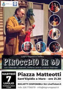 R-Estate il Centro, un Pinocchio in 3D in piazza Matteotti a Sant' Elpidio a Mare