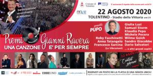 Premio Ravera 2020 a Tolentino, con la conduzione di Pupo e la partecipazione di Roby Facchinetti, Anna Tatangelo, Francesco Sarcina e altri grandi ospiti