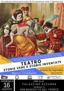 Teatro: Storie vere e storie inventate, l'Accademia AIFAS alla Palazzina Azzurra di San Benedetto