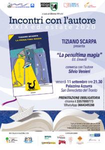 Tiziano Scarpa con La penultima magia alla Palazzina Azzurra di San Benedetto