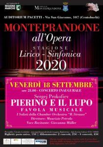 Monteprandone all'Opera, primo appuntamento con la favola musicale Pierino e il lupo